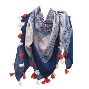 Coton imprimé Glands Foulards Fabricants