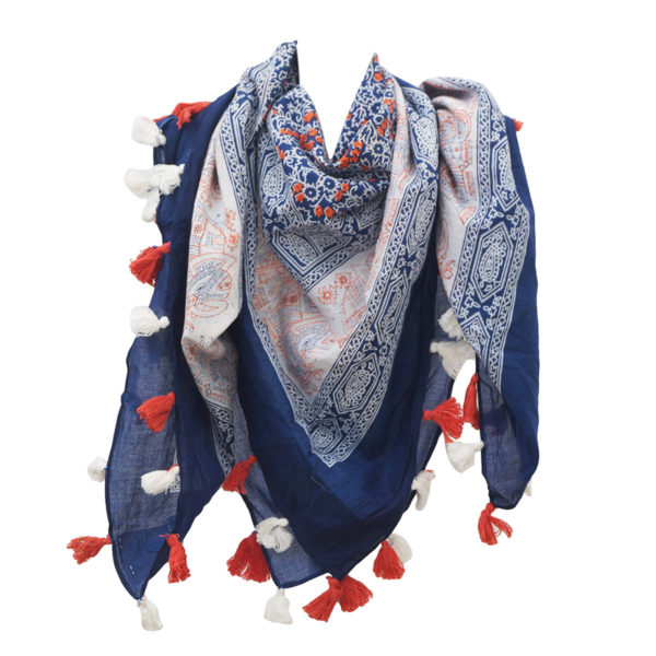 Cotton Printed Tassels Scarves Manufacturers